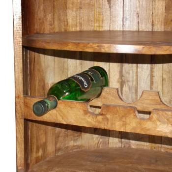 Round Wooden Barrel Wine Rack - Bar