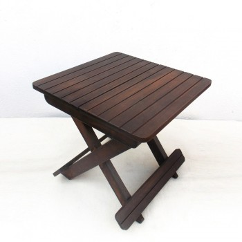 Folding Camp Stool- Wood, Statted (Not suitable for seating)