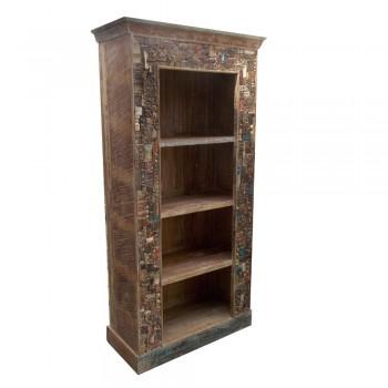 Reclaimed Mosaic Book Shelf