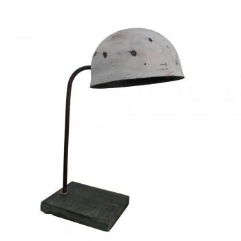 Iron Helmet Lamp - Vintage