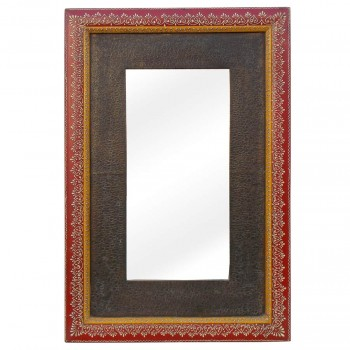 Antique Brass - Painted Wooden Mirror Frame