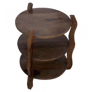 Three Tier End Table - Round