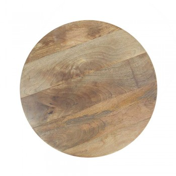 "Distress White Donut Art Wooden Round Coffee Table - Dia 21"""