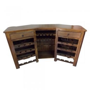Antique Bar Cabinet - Brass Artwork