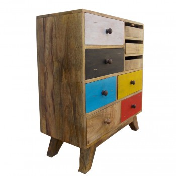 Abstract Painted Chest of Drawers