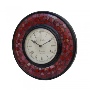 Glass Mosaic Red Time Panel