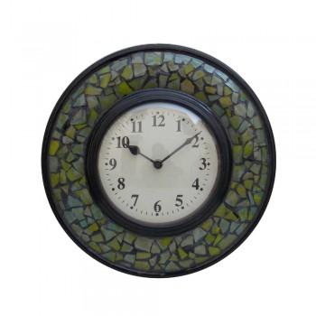 Glass Mosaic Green Time Panel