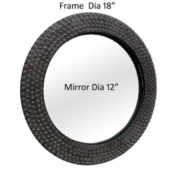 "Mechanical Ball Bearing Mirror - Dia 16"""