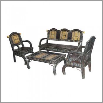 Cart Theme Sofa Set (3 Seater+2 Single Seater+table)
