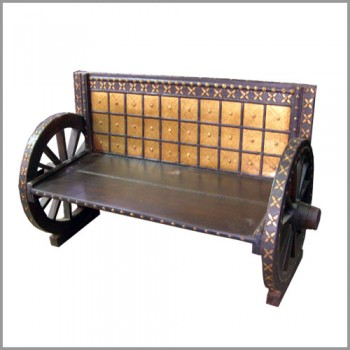 Cart Wheel Sofa