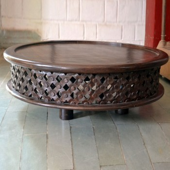Hand Carved Low Table - Natural Polished (Coffee Table)
