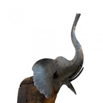 Eco the Elephant, Reclaimed Wood & Iron