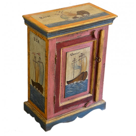 Distress Painted Marine Cabinet