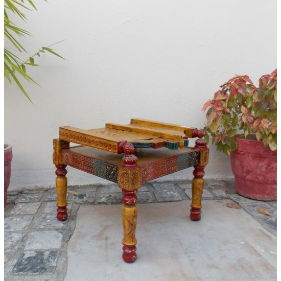 Handpainted Low Wooden Chair