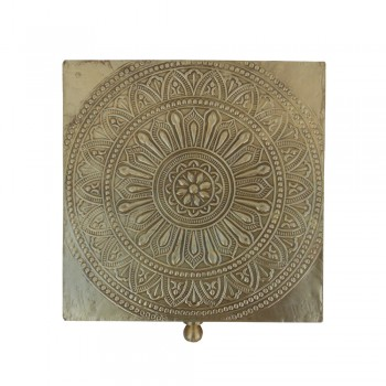 Embossed Brass Art Coaster- Set of six in a box