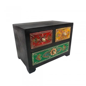 Hand Painted 3 Drawers Mini Chest
