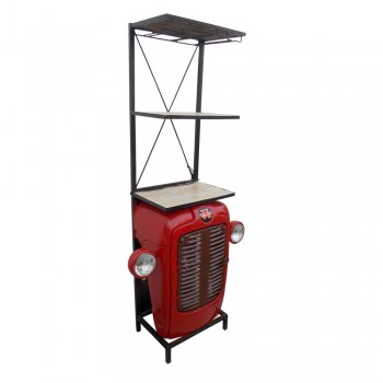 Farm Tractor inspired Bar Cabinet. Or use it as Curio / Book Shelf