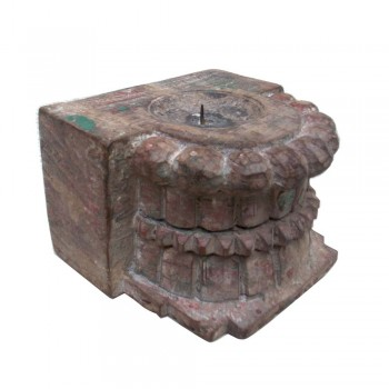 Antique Carved Wooden Piece - Candle Stand