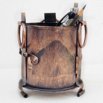 Iron Sigdi Pen Holder-Copper
