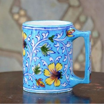 Ceramic Mug Blue Pottery Assorted Colors