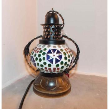 Glass Mosaic Handi Lamp - 1