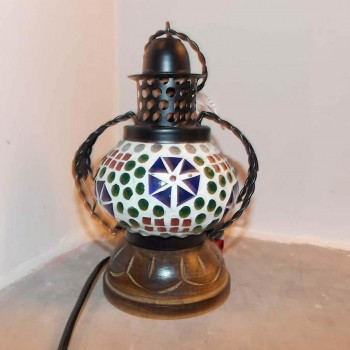 Glass Mosaic Handi Lamp - 1