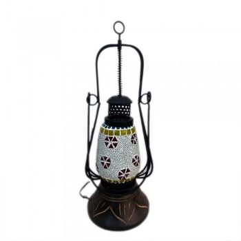 Glass Mosaic Handi Lamp Large - Multicolored Assorted