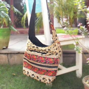 Floral Elegance Bag, Olive Green