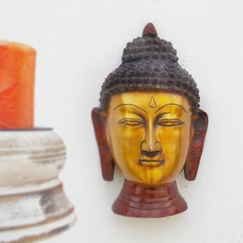 Brass Buddha Head (Wall Mounted) Redish
