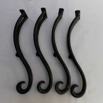 Iron Hot Bent Furniture Legs Set of Four -15""
