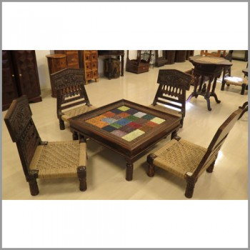 Elephant Low Seter Four Chairs with Table