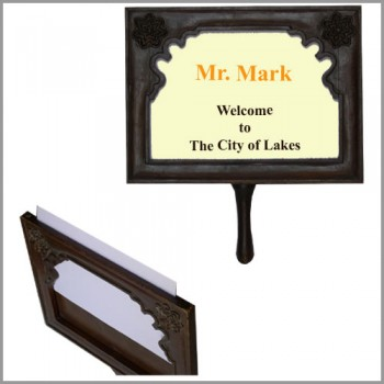 Plackcard Hand Held Guest Welcome Paper Slide in