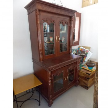 Teak Wood Cabinet - Cherry Polish