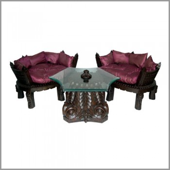 Auda Seaters Polished with Round Table