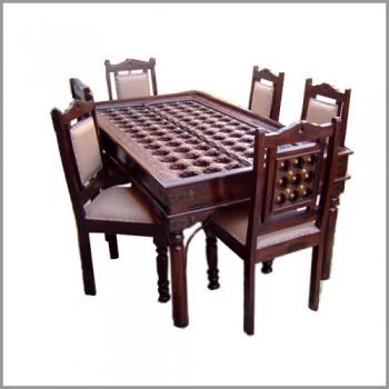 Bakra Brass Artwork dining Table 6 seater