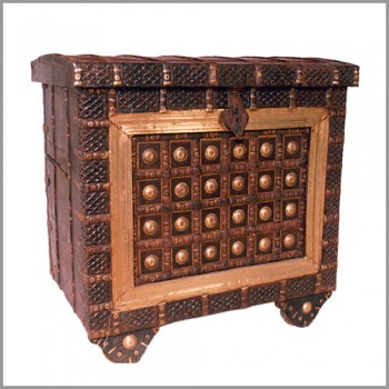 Metal Artwork Pitara Treasure Box