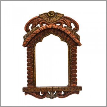 "Jharokha Frame 18"" - Golden & Copperish"