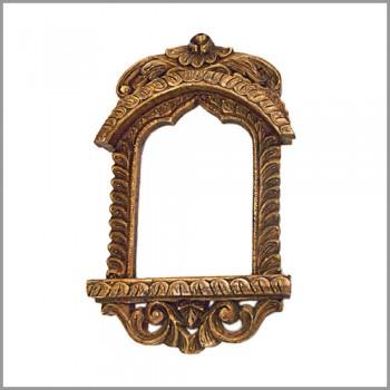 """Jharokha Frame 18"""" - Golden"""