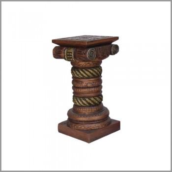 "Antique Mettalic Royal Wooden Pillar 24"""