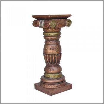 "Antique Mettalic Royal Wooden Pillar 30"""