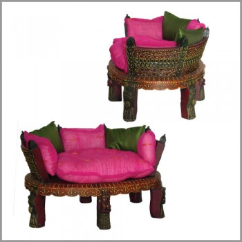 Painted Auda Low Seater with cushions