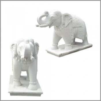 Handmade Marble Elephant