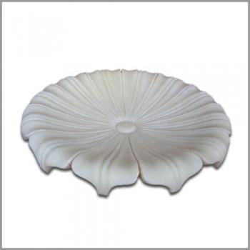 Handmade Marble Lotus Plate