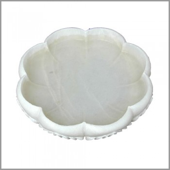 Handmade Marble Lotus Shape Bowl