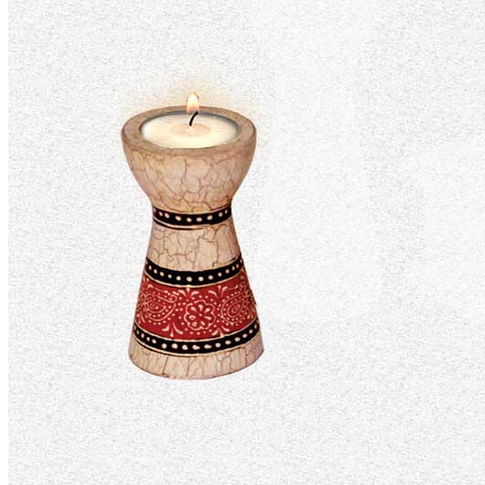 Candle Stand Floral / Taper Small (Collection- Elegant Paisley)